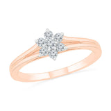 Sophisticated Cluster Ring