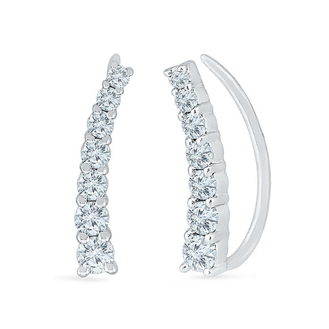Couture Trendy Diamond Ear Climbers