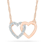 Double-up Love Heart Necklace