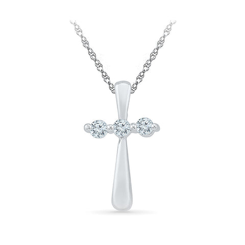 Luxurious Cross Diamond Pendant in 14k and 18k Gold online for women