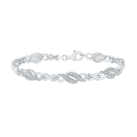 fashionista diamond bracelet for women  in white and yellow gold