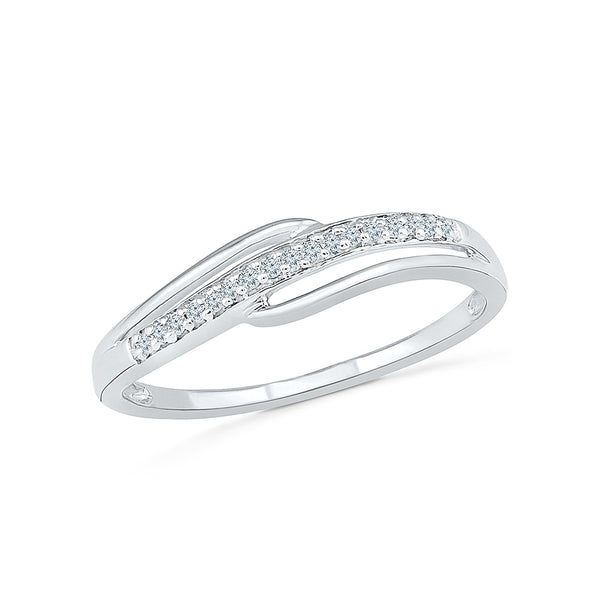 14kt / 18kt white and yellow gold sophisticated casual ring  in PAVE for women online