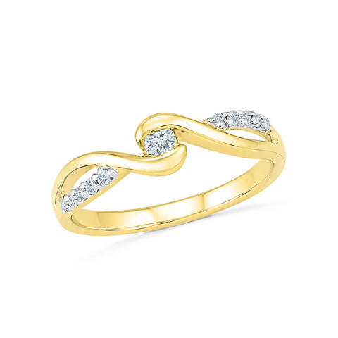 9/14/18 Carat White/Yellow/Rose Gold/Silver Ring with Single Row of Prong Set Diamonds