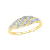 Smooth Swirls Everyday Diamond Ring