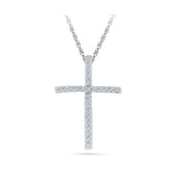 Diamond Accent Cross Pendant in 14k and 18k Gold online for women