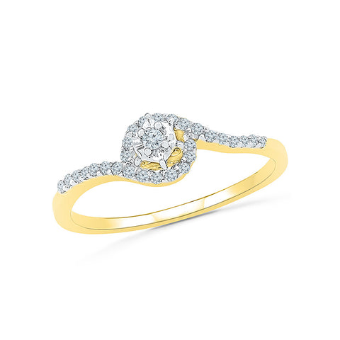 14kt / 18kt white and yellow gold Diamond Twist Engagement Band Ring in PRONG and PAVE for women online