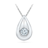 Solitary Teardrop Diamond Pendant in 14k and 18k Gold online for women