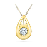 Solitary Teardrop Diamond Pendant
