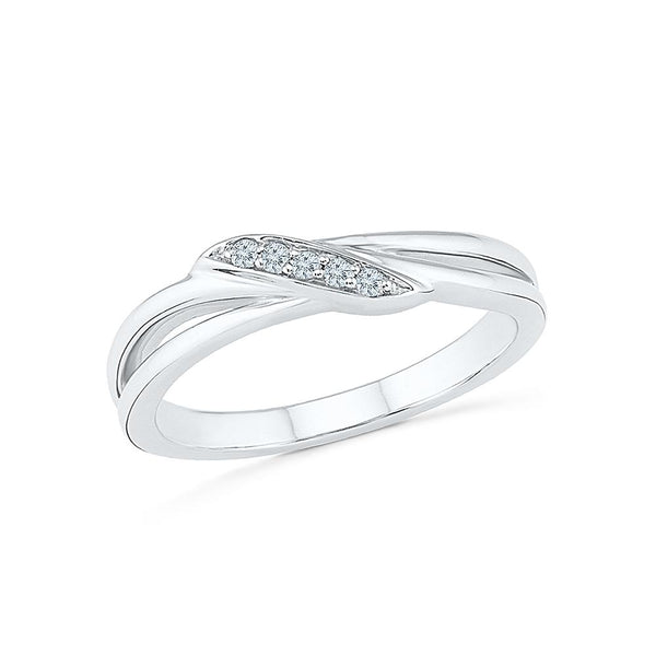 Golden glow band ring in Pave Setting with Diamonds for everyday wear