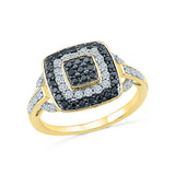 Black Bejewel Diamond Cocktail Ring