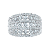Celebrity Glamour Diamond Cocktail Ring