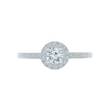 Winsome Diamond Engagement Band Ring