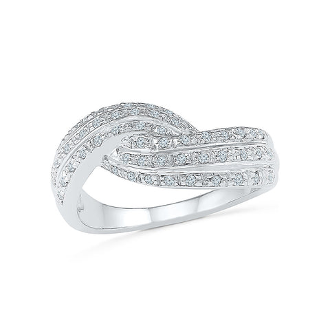 14kt / 18kt white and yellow gold Brilliant Diamond Knot Cocktail Ring in PAVE for women online