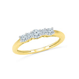 14kt / 18kt white and yellow gold Flawless Five Diamond Ring in PRONG for women online