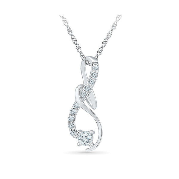 Snake Swirls Diamond Pendant in 14k and 18k Gold online for women