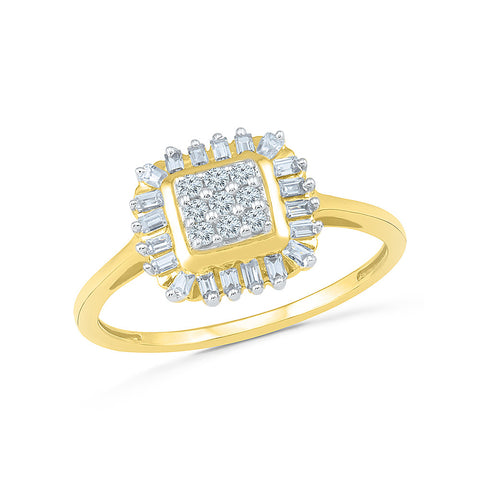 14kt / 18kt white and yellow gold designer baguette studded  in PRONG for women online