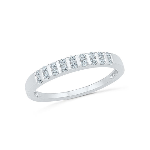 14kt / 18kt white and yellow gold Diamond Straps Band Ring  in PRONG for women online