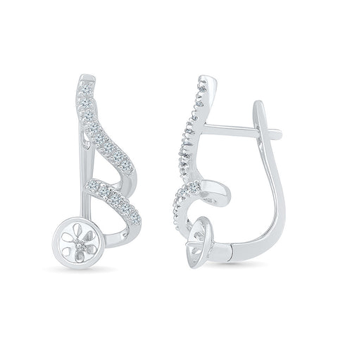 Love For Music Diamond Huggies in 14k and 18k gold