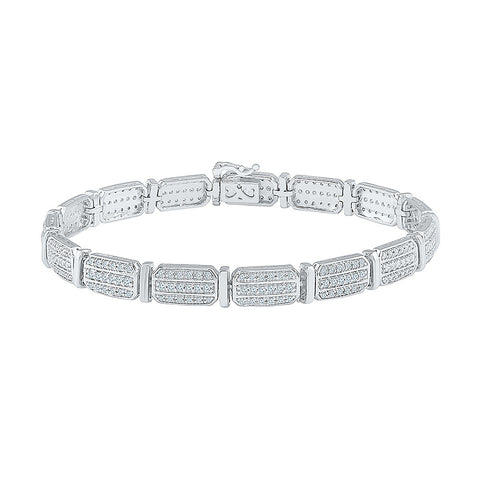 high class multi diamond studded bracelet  in white and yellow gold