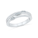 14kt / 18kt white and yellow gold Three Forever Everyday Diamond Ring  in PRONG for women online