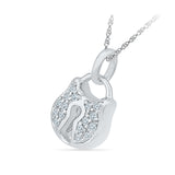 Lock and Key Diamond Pendant