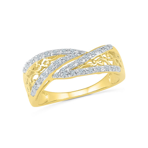 14kt / 18kt white and yellow gold Halo Frame Designer  Diamond Cocktail Ring in Prong setting online for women