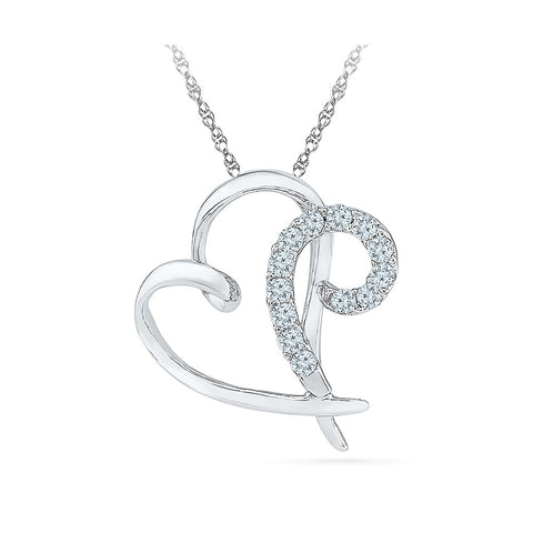 uniquely designed heart pendant in 14k and 18k Gold online for women