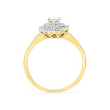 Golden Heart Diamond Engagement Ring