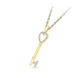 The Lucky Key Diamond Pendant