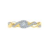 Artistic Rope Diamond Engagement Ring