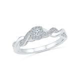 14kt / 18kt white and yellow gold Artistic Rope Diamond Band Ring  in Prong for women online