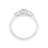 Five Stone Glamour Engagement Ring