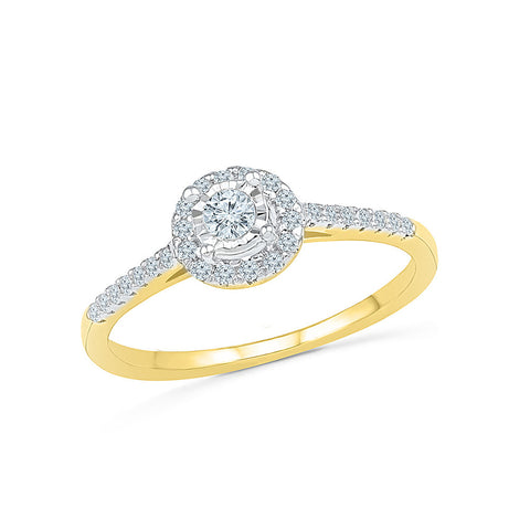 14kt / 18kt white and yellow gold Priceless Bond Engagement Ring in PRONG and MIRACLE for women online