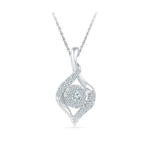 elegant diamond studded almond pendant in 14k and 18k Gold online for women
