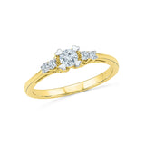14kt / 18kt white and yellow gold Charming Pledge Diamond Engagement Ring in PRONG for women online