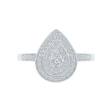 Grand Teardrop Diamond Cocktail Ring
