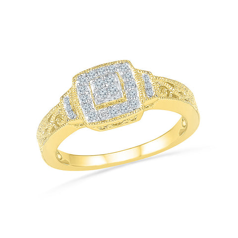Beauteous Halo Frame Diamond Ring - Radiant Bay