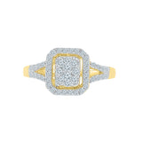 Square Treasure Diamond Cocktail Ring