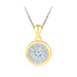 Regal Splendor Diamond Pendant in 14k and 18k Gold online for women