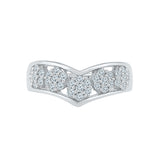 Five Flower Chevron Diamond Ring