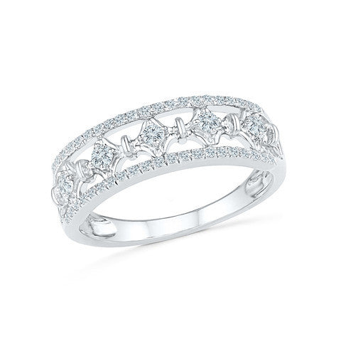 Fancy Ornate Everyday Diamond Ring