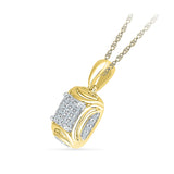 Multi Diamond Square Pendant