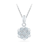 Petite Round Diamond Pendant in 14k and 18k Gold online for women