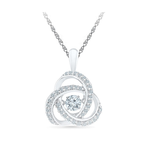 Divine Sparkle Diamond Pendant in 14k and 18k Gold online for women