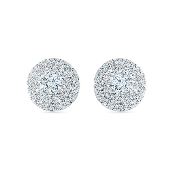 Scintillating Diamond Stud Earrings in 14k and 18k gold for women online