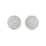 Scintillating Diamond Stud Earrings