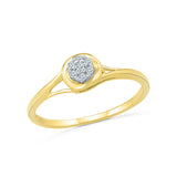 14kt / 18kt white and yellow gold elegant round diamond  in PRONG for women online