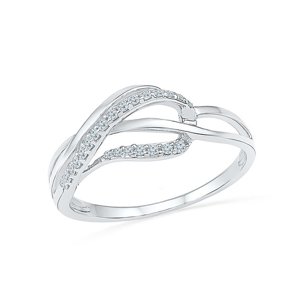 14kt / 18kt white and yellow gold Swirl Lures Everyday Diamond Ring in Prong setting online for women