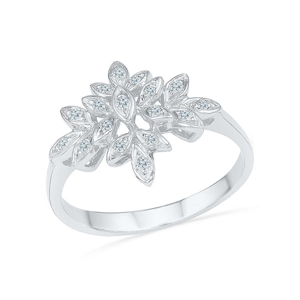 Floral Edge Cocktail Ring