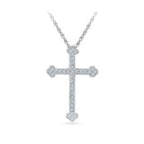 The Vintage Cross Pendant in 14k and 18k Gold online for women